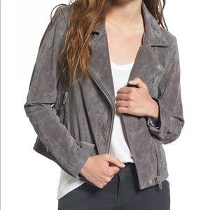 BLANKNYC Grey Suede Moto Jacket